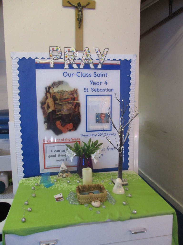 Our class prayer table.