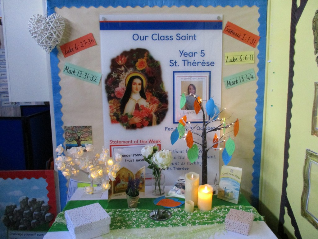 Year 5 Prayer Table
